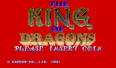 Обложка игры The King of Dragons ( - cps1)