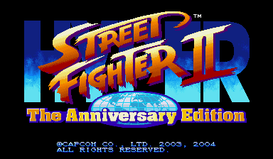Обложка игры Hyper Street Fighter 2: The Anniversary Edition