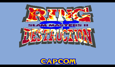 Игра Ring of Destruction: Slammasters II (Capcom Play System 2 - cps2)