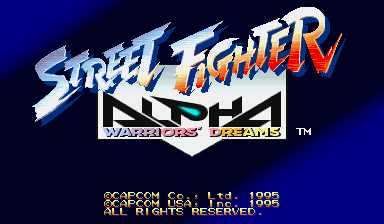Обложка игры Street Fighter Alpha: Warriors