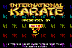Игра International Karate Advanced (Game Boy Advance - gba)