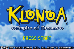 Обложка игры Klonoa - Empire of Dreams