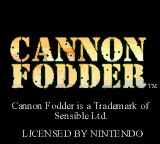 Обложка игры Cannon Fodder (GameBoy Color - gbc)