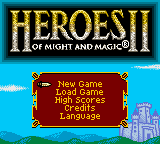 Обложка игры Heroes of Might and Magic II (GameBoy Color - gbc)