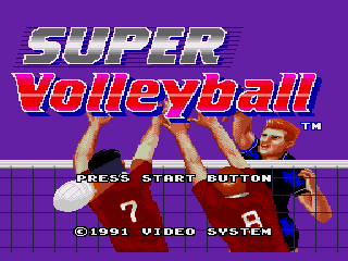 Обложка игры Super Volleyball (Sega Mega Drive - gen)