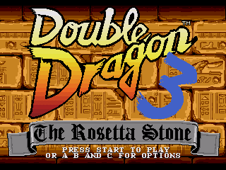 Обложка игры Double Dragon 3 - The Rosetta Stone