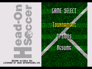 Обложка игры Head-On Soccer (Sega Mega Drive - gen)