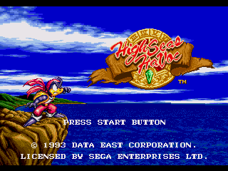 Обложка игры High Seas Havoc (Sega Mega Drive - gen)