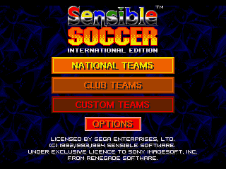 Обложка игры Sensible Soccer - International Edition (Sega Mega Drive - gen)