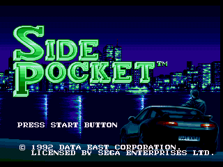 Обложка игры Side Pocket (Sega Mega Drive - gen)