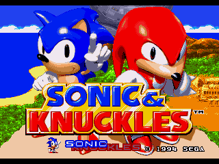 Обложка игры Sonic and Knuckles (Sega Mega Drive - gen)