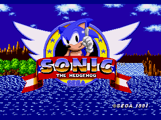 Обложка игры Sonic The Hedgehog (Sega Mega Drive - gen)