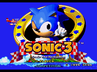Обложка игры Sonic The Hedgehog 3 (Sega Mega Drive - gen)