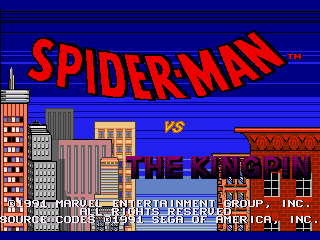 Обложка игры Spider-Man vs The Kingpin (Sega Mega Drive - gen)