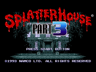 Обложка игры Splatterhouse Part 3 (Sega Mega Drive - gen)