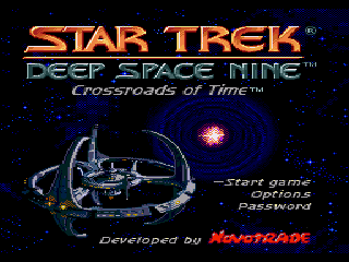Обложка игры Star Trek - Deep Space 9 - Crossroads of Time (Sega Mega Drive - gen)