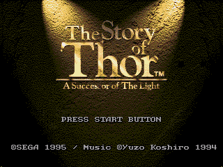 Обложка игры Story of Thor, The - A Successor of The Light (Sega Mega Drive - gen)