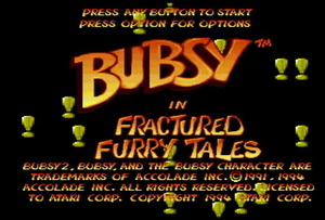 Обложка игры Bubsy: Fractured Furry Tails