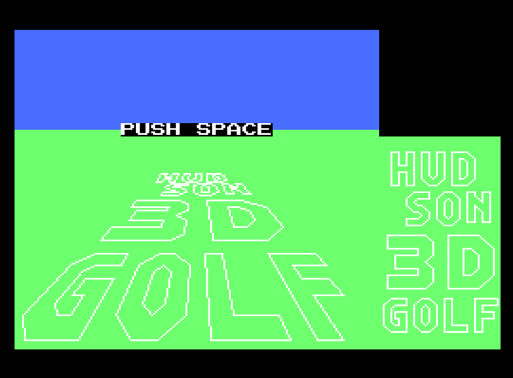 Игра Golf Kyou - Golf Crazy (Machines with Software eXchangeability - msx1)