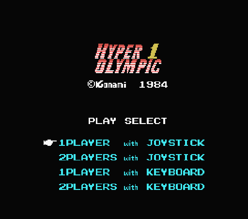 Обложка игры Hyper Olympic 1 (Machines with Software eXchangeability - msx1)