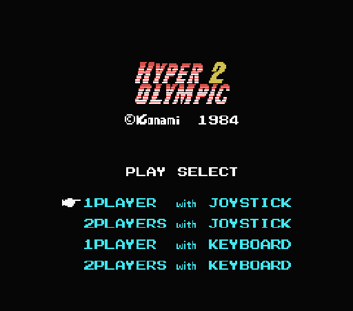 Обложка игры Hyper Olympic 2 (Machines with Software eXchangeability - msx1)