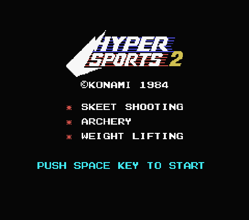 Обложка игры Hyper Sports 2 (Machines with Software eXchangeability - msx1)