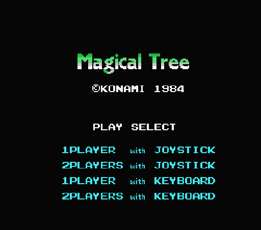 Обложка игры Magical Tree (Machines with Software eXchangeability - msx1)