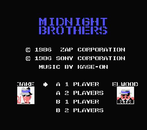 Обложка игры Midnight Brothers (Machines with Software eXchangeability - msx1)