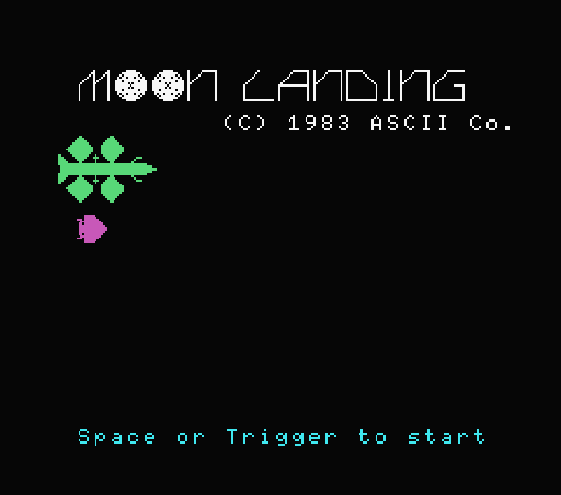 Обложка игры Moon Landing (Machines with Software eXchangeability - msx1)