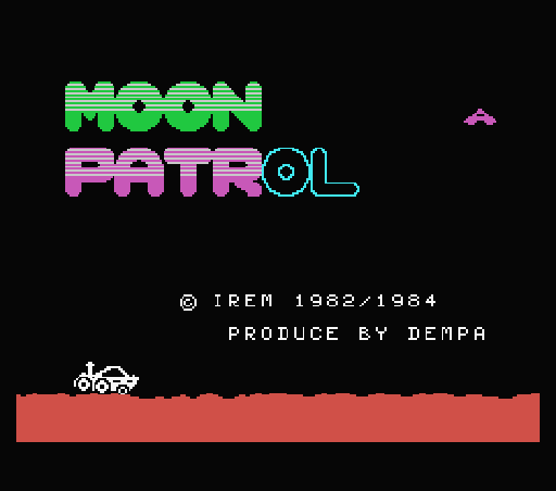 Обложка игры Moon Patrol (Machines with Software eXchangeability - msx1)