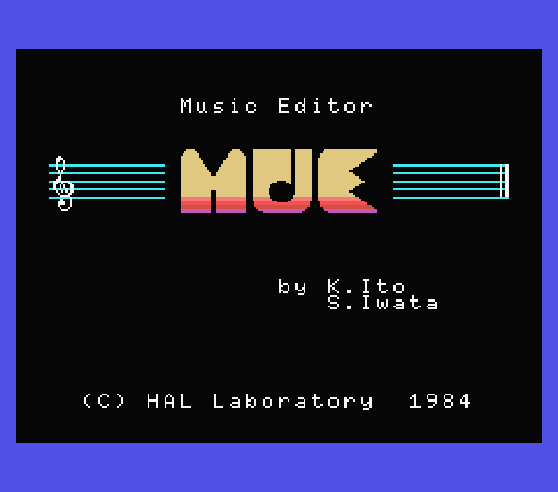 Обложка игры Music Editior (Machines with Software eXchangeability - msx1)
