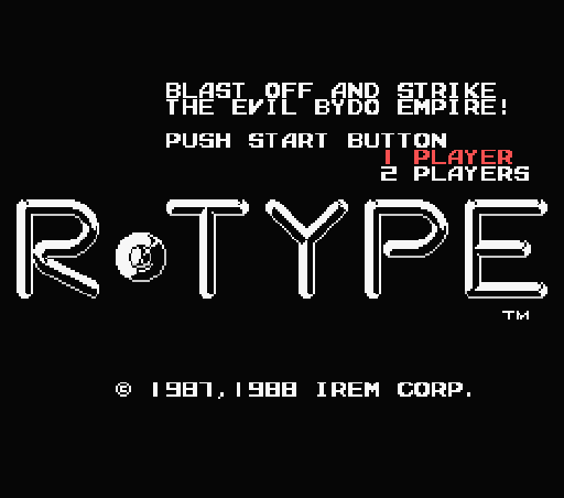 Обложка игры R-Type (Machines with Software eXchangeability - msx1)