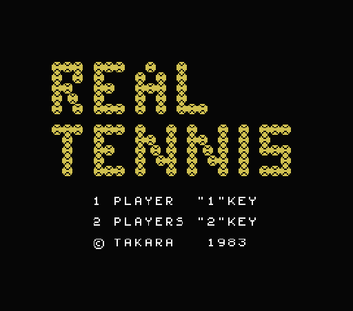 Обложка игры Real Tennis (Machines with Software eXchangeability - msx1)