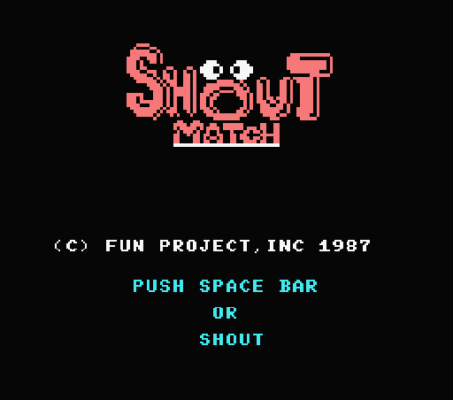 Обложка игры Shout Match (Machines with Software eXchangeability - msx1)