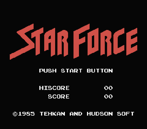 Обложка игры Star Force (Machines with Software eXchangeability - msx1)