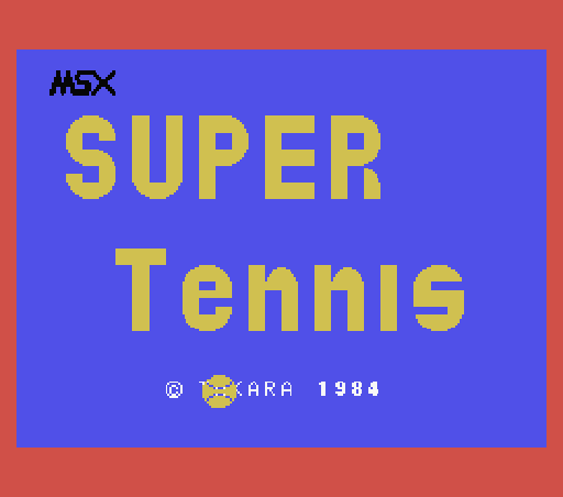 Обложка игры Super Tennis (Machines with Software eXchangeability - msx1)