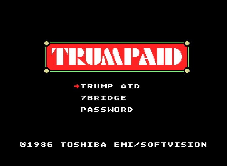 Обложка игры Trump Aid (Machines with Software eXchangeability - msx1)