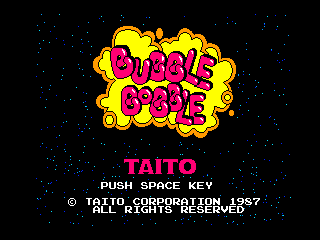 Обложка игры Bubble Bobble (Machines with Software eXchangeability 2 - msx2)