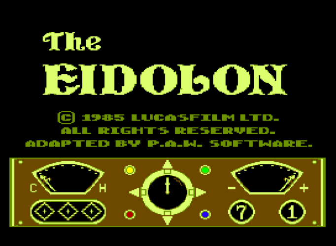 Обложка игры Eidolon (Machines with Software eXchangeability 2 - msx2)