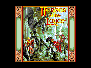 Обложка игры Heroes of The Lance (Machines with Software eXchangeability 2 - msx2)