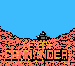 Обложка игры Desert Commander (Dendy - nes)