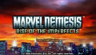 Обложка игры Marvel Nemesis: Rise of the Imperfects (PlayStation Portable - psp)