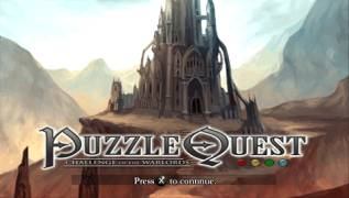 Обложка игры Puzzle Quest: Challenge of the Warlords (PlayStation Portable - psp)