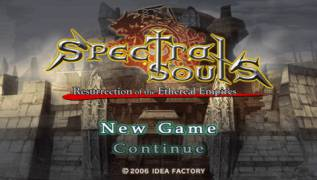 Обложка игры Spectral Souls: Resurrection of the Ethereal Empires (PlayStation Portable - psp)