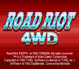 Игра Road Riot 4WD (Super Nintendo - snes)