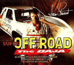 Игра Super Off Road - The Baja (Super Nintendo - snes)