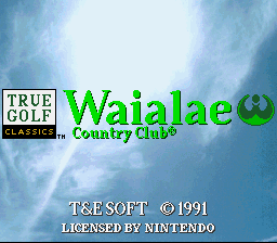 Обложка игры Waialae Country Club (Super Nintendo - snes)