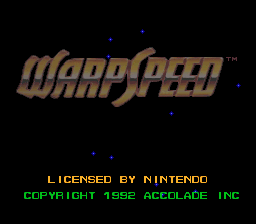 Обложка игры WarpSpeed (Super Nintendo - snes)