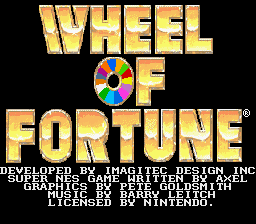 Обложка игры Wheel of Fortune (Super Nintendo - snes)
