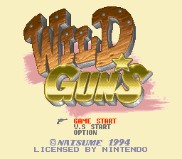 Обложка игры Wild Guns (Super Nintendo - snes)